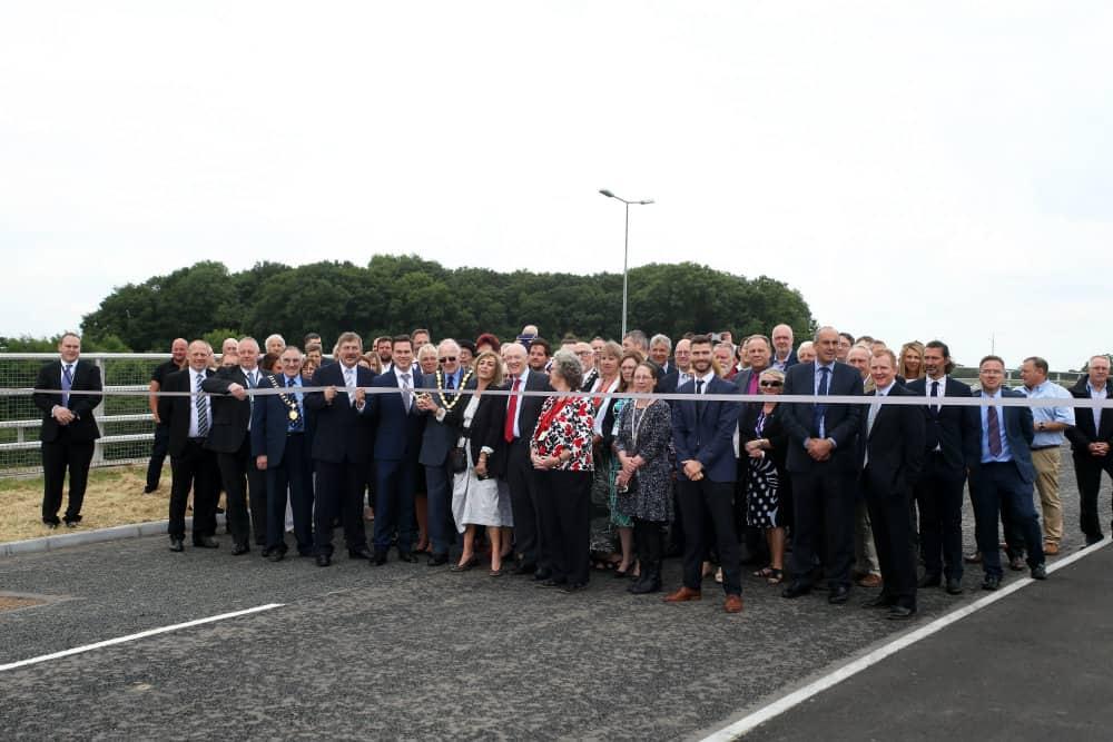 New Lubbesthorpe bridge opening 1